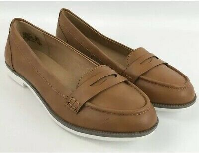 5bc522551a1 American Eagle Brown Slip On Penny Loafers Flats Women s Size 11  R