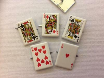 BRADS PLAYING CARDS pk of 6 split pin craft scrapbooking game card