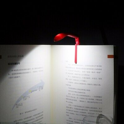 Mini Tiny Book Light LED Booklight Travel Reading Lamp Clip On Folding Portable