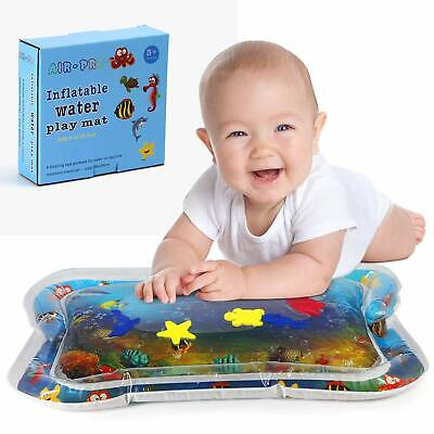 Inflatable Water Play Mat Infants Toddlers Fun Tummy Time  Activity Center Play