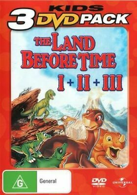 NEW The Land Before Time I + II + III (Kids 3 DVD Pack) DVD Free Shipping
