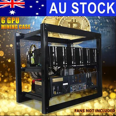 Open Air Steel Mining Miner Frame Rig Case For 6 GPU ETH BTC Ethereum Bitcoin Ki