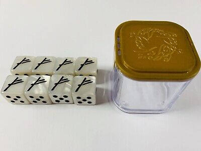 Games Workshop Gandalf the White Dice Set Lord of Rings LotR 8xD6