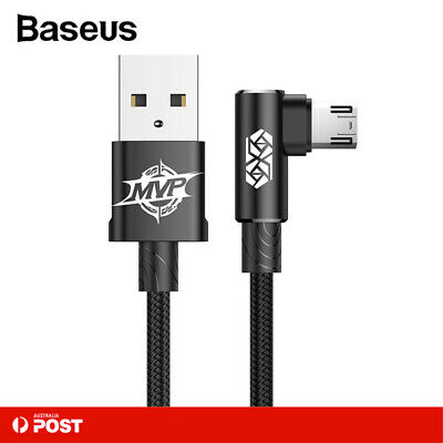 Baseus Reversible Micro USB Charger Cable Strong Braided Data Cord for Android