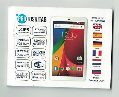 tablette pro toshitab neuf wif  movies dual cam   android  avance 6.1