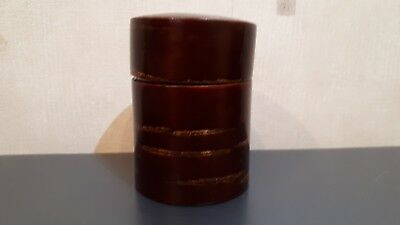 Collectible  Japanese  Type  Cherry Bark  Tea  Caddy