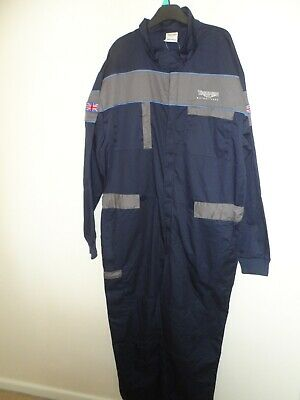 Triumph geniune workshop overall navy blue & grey size XL Brand new with tags