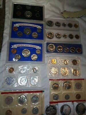 U.S. Silver Coin Mint/proof Set bullion,90%,40% uncirculated Lot