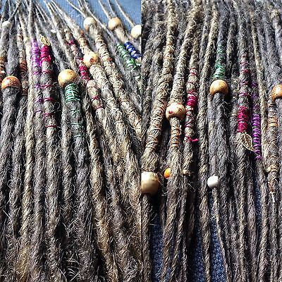 10x CUSTOM HANDMADE SYNTHETIC DREADLOCKS DREADS WITH WRAPS & BEADS FITTING KIT