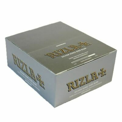 2 Boxes of Rizla Silver King Size Slim 50pks/Box (100 Booklets)