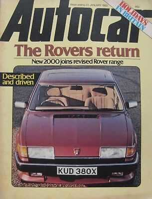 Autocar magazine 23 January 1982 featuring BMW road test, Rover SD1