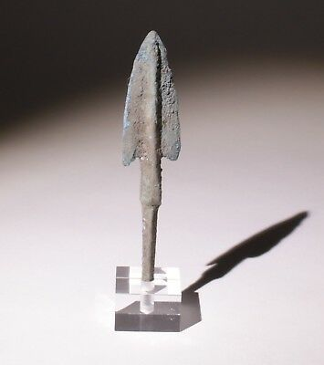 Museum Quality Luristan Bronze Age Arrowhead 1200-800Bc   0045