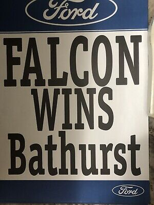 FORD OFFICIAL FALCON  WINS BATHURST V8SUPERCARS  POSTER EC Great For Mancave