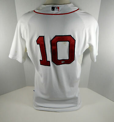 5660683e5 2014 Boston Red Sox Jonathan Herrera  10 Game Used White Spring Training  Jersey