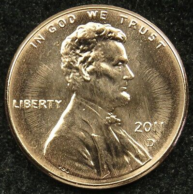 2011 D Uncirculated Lincoln Shield Cent Penny BU (B03)