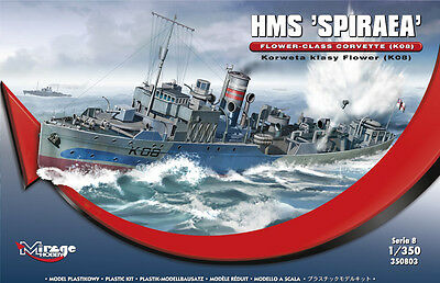 Hms Spiraea K-08 - Ww Ii Royal Navy Corvette ( W/Pe Parts)#350803 1/350 Mirage