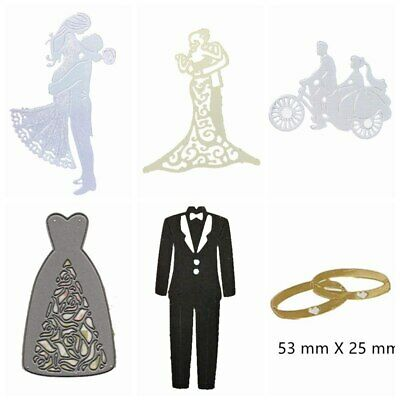 Wedding Essentials Metal Cutting Dies Stencil Scrapbooking Decor Paper Cards