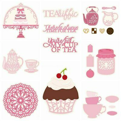 Tea Party Metal Cutting Dies Stencil Scrapbooking Decorative Paper Cards Ccrafts