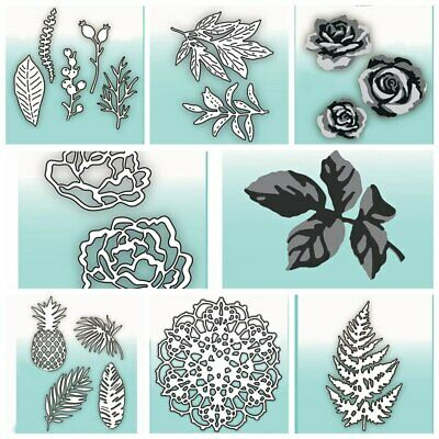 Mixed Flower & Leaves Metal Cutting Die Scrapbooking Paper Cards Crafts Handmade