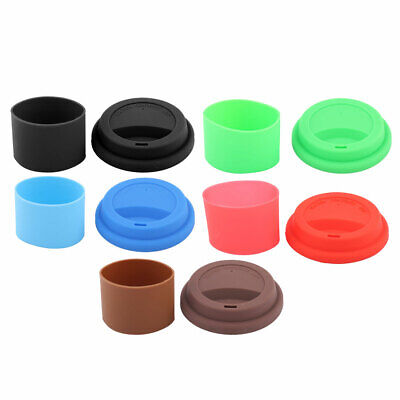 Household Kitchen Silicone Round Water Tea Juice Mug Cup Sealed Lid Cover Set