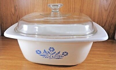Corning P-34-B BLUE CORNFLOWER 4 QT DUTCH OVEN