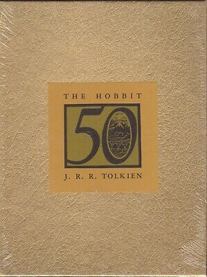 The Hobbit by J. R. R. Tolkien 50th Anniversary Edition Sealed Gold Slipcase NEW