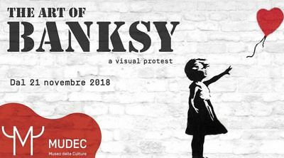 Ticket - A VISUAL PROTEST. The art of Banksy - Mudec - Museo delle Culture Milan
