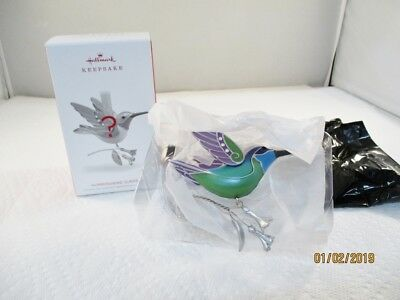 2018 Hallmark Hummingbird Surprise Blue/Green Beauty of Birds Mystery #2