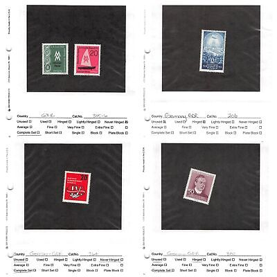 Lot of 63 Germany DDR MNH Mint Never Hinged & MH Mint Stamps #141716 X R