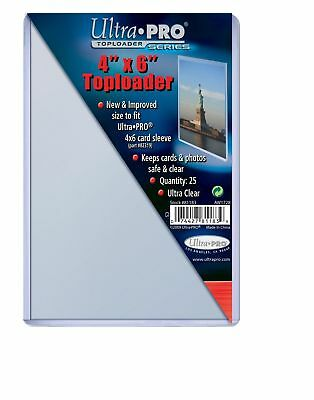 25 Ultra Pro 4 x 6 4x6 Toploaders Postcard Photo Holders Storage Protection