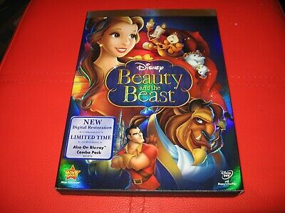 Beauty and the Beast 2 disc DVD Disney with slipcover and Original inserts