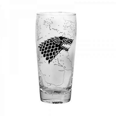 Official Game Of Thrones King In The North Stark Pilsner Glass Beer Tumbler