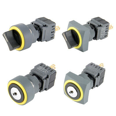 2/3 Position Self-Locking Rotary Selector Switch Round/Square Head