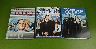 The Office Season 2 Two 3 Three 4 Four DVD Lot Steve Carell John Krasinski