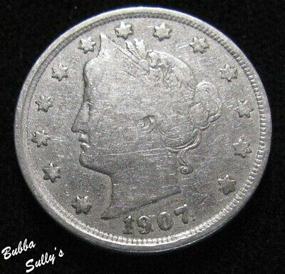 1907 Liberty Head 'V' Nickel <> FINE