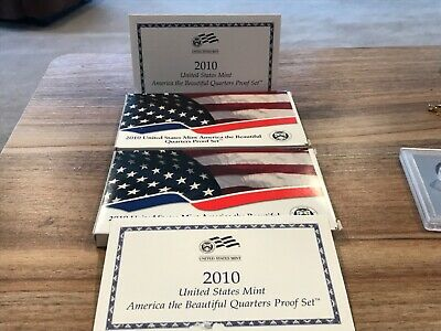 2010 United States Mint America the Beautiful 5 Quarters Two (2) Proof Sets