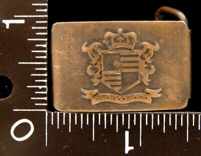 Mj30118 Neat Vintage **Coat Of Arms** Brasstone Fashion Belt Buckle