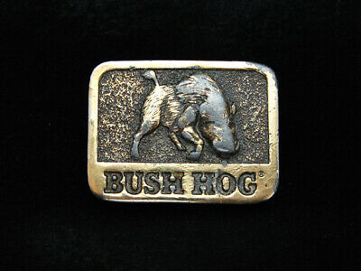 Pb05122 Vintage 1981 **Bush Hog** Tractor Equipment Farming Belt Buckle
