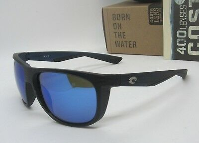 60c6f712d4 COSTA DEL MAR matte black teak blue mirror KIWA POLARIZED 400G sunglasses  NEW!