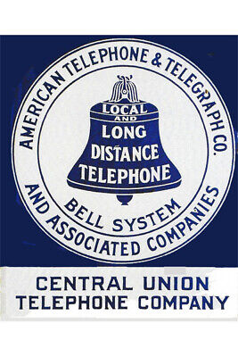 Vintage Fridge Toolbox Magnet (2x3) Classic Sign Bell Telephone Long Distance
