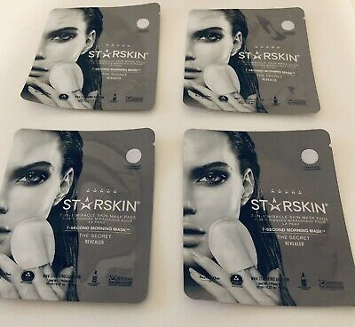 STARSKIN 7-SECOND MORNING MASK x 4 PACKS ~ 10ml x 4~ BRAND NEW ~ ⭐️⭐️⭐️⭐️