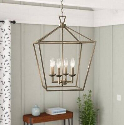 Carmen 6-Light Foyer Pendant Trans Global 10266ASL Antique Silver Leaf