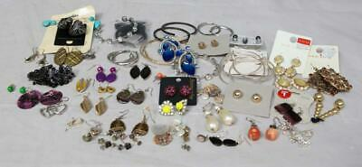 Job Lot Of Earrings Various Styles Colours Over 50 Pairs