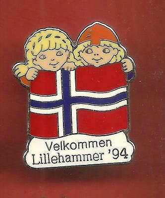 Pin's pin J.O JEUX OLYMPIQUES LILLEHAMMER 94 OLYMPIC GAMES  (ref CL04 )