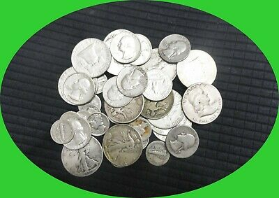Silver Lot Pre 1964 US Old Silver COINS SURVIVAL MONEY