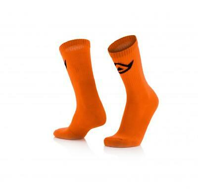 Short motorcycle socks above ankle Orange Acerbis COTTON 0022491.014 CA
