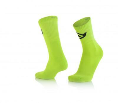 Short motorcycle socks above ankle Yellow Acerbis COTTON 0022491.063 CA