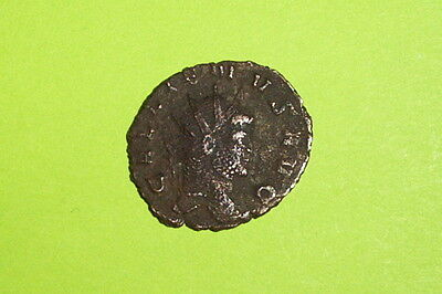 Gallienus 253 AD ancient ROMAN COIN mars spear shield branch old antique VG good