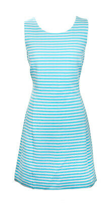 00a95baa1a3c5a Lilly Pulitzer Shorely Blue Ottoman Stripe Whiting Cut Out Shift Dress L New