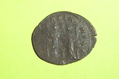 Aurelian 275 AD ancient ROMAN COIN two Concordia military standards antique good